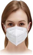 Mascara Pff2 Descartavel Kn95 Proteção Facial Respiratória 5 Camadas Hospitalar Clip Nasal Branca 95% De Filtragem - Plasart
