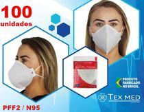 Máscara PFF2 / N95 (S) sem válvula (com ANVISA)  - 100 unidades - Texmed