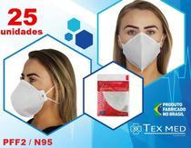 Máscara PFF2 / N95 (S) sem válvula (Com ANVISA)  - 25 unidades - Texmed