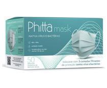 Máscara Phitta Mask Descartável 12hrs de proteção tripla 50 Unidades (1 Cx) -