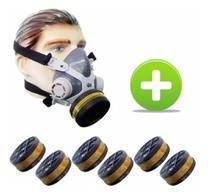 Máscara Pintura Carvão Ativado Vo Ga Mastt + 6 Filtros - Alltec