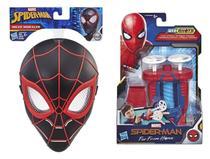 Máscara Preta Homem Aranha + Lança-Dardos Spiderman - Hasbro -