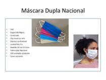 Mascara Protetiva de TNT 40grs Dupla com Elastico Nacional 50 unidades - Solução Gifts