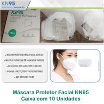 Máscara Protetor Facial K N95 - Caixa Com 10 Unidades - Branca - Aab