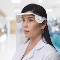 Máscara Protetor Facial Total (Face Shield) com Película Protetora 100% Transparente - Dello