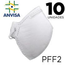 Máscara Respirador PFF2/N95 10 unidades - ANVISA 82167630001 - Texmed