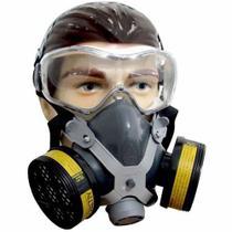 Máscara Respiratória Com 2 Filtro Para Gases E Vapores Epi - Destra