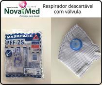 Máscara Respiratória Descartável com Válvula PFF-2  cx com 30und - Air Safaty