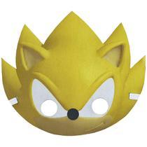 Máscara Sonic Amarelo Infantil Super Sonic Com Elástico - Fantasias Carol Ef