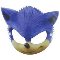 Máscara Sonic Infantil 3D Com Elástico - Fantasias Carol Ef