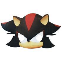 Máscara Sonic Shadow Infantil Com Elástico - Fantasias Carol Ef