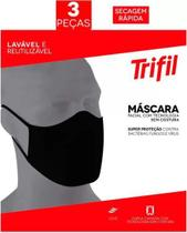 Máscara tecido lavável dupla (c/03 und) trifil -
