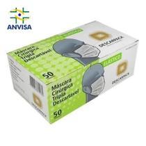 Mascara tnt trilpa branca c/ 50 unidades aprovda  anvisa - DESCARPACK