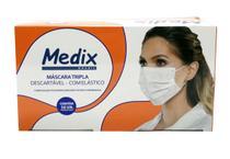 Máscara Tripla Descartável Com Elástico Anvisa Caixa 50 Unid - Medix