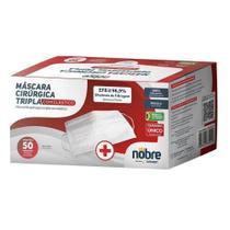Máscara Tripla Elástico Filtro 96,9% Caixa Com 50 Uni Nobre -