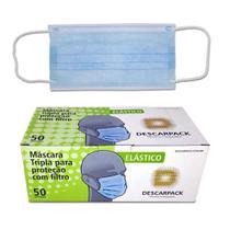 Máscara Tripla Para Proteção Com  Filtro  Descarpack -