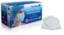 Máscara Tripla Proteção Bacteriana com Elástico ProtClean Branca 50 unid -