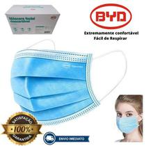 Mascaras Descartavel Tripla Clip Nasal 50 Un 5x10 BYD -
