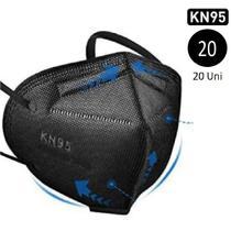 Máscaras Respiratória Kn95 Preta Pronta Entrega 20 Unidades - 97T