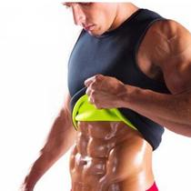 Masculina Camiseta Modeladora Abdominal Regata Neoprene Queima Gorduras Reduz Medidas - Compre Na Net