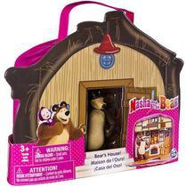 Masha e o Urso Maleta Casa do Urso de Vinil com Personagem - Sunny