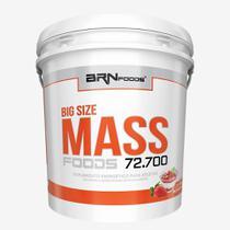 Massa - BIG SIZE MASS - Balde - 6 kg - Sabor Morango  BRNFOODS - Br Nutrition Foods