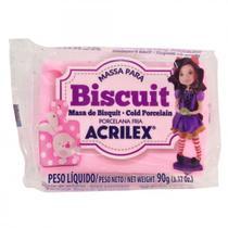 Massa Biscuit Acrilex   090 g  Rosa 07490-537 -