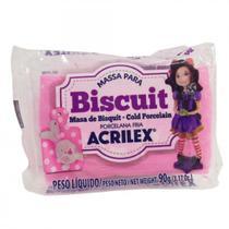 Massa Biscuit Acrilex   090 g  Rosa Escuro 07490-542 -