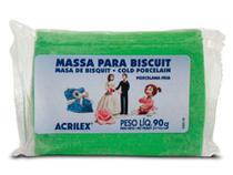 Massa de Biscuit Verde Folha 555 90 Gramas - Acrilex -