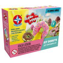 Massa de Modelar - Super Massa - Donuts - Estrela -