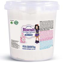 Massa de Porcelana Fria Biscuit 1KG Branca - Acrilex