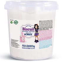Massa de Porcelana Fria Biscuit 1KG Natural - Acrilex