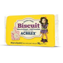 Massa de Porcelana Fria Biscuit 90G Amarelo Ouro - Acrilex