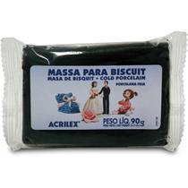 Massa de Porcelana Fria Biscuit 90G Preto - Acrilex