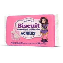 Massa de Porcelana Fria Biscuit 90G Rosa Escuro - Acrilex