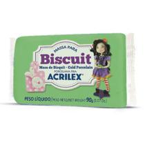 Massa de Porcelana Fria Biscuit 90G Verde Musgo - Acrilex