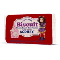 Massa de Porcelana Fria Biscuit 90G Vermelho - Acrilex
