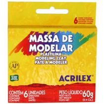 Massa Modelar Acrilex   060 g 006 Cores  07060 -