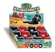 Massa Slime Bomba Pirata Display Com 12 Peças Dtc 4838 -