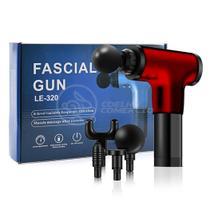 Massageador Elétrico Relaxamento Muscular Facial Físico Fitness 6 Níveis - Fascial Gun LE-320 Vermelho - Smart Bracelet
