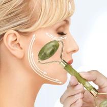 Massageador Facial Pedra Jade Rolo Massoterapia Anti Estresse e Anti Rugas - Braslu