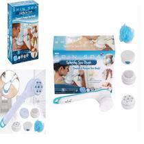 Massageadora esfoliante de banho 5 em 1 escova eletrica massageador limpeza pele e pé recarregavel - Makeda