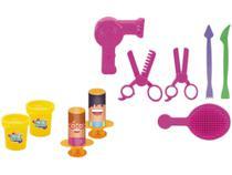 Massinha Amasse  Brinque Estúdio de Beleza e - Barbearia Xplast com Acessórios -