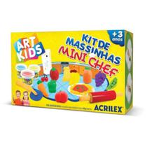 Massinha Art Kids - Kit de Massinhas Mini Chef - Acrilex