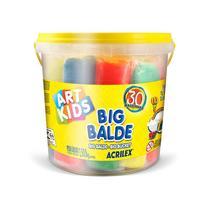 Massinha Big balde com 30 massinhas sortidas -  Art Kids - 40023 - Acrilex -