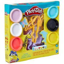 Massinha de Modelar Animais Play-Doh 170g 6 Potes Coloridos Hasbro 3 Anos+ Educativo - E8535 -