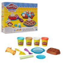Massinha de Modelar Play-Doh Kitchen Creations Tortas 4 Potes Sortidos 3 Anos+ Hasbro - B3398 -