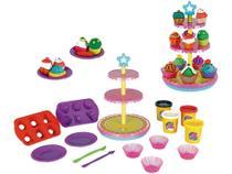 Massinha de Modelar Xplast Amasse & Brinque - Fábrica de Cupcakes 4 Cores -