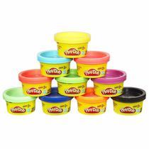 Massinha play-doh 10 mini potes - hasbro -