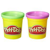 Massinha Play-Doh - 2 Potes - Roxo e Verde - Hasbro -